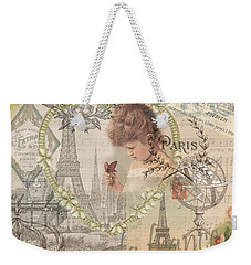Paris Vintage Collage With Child Weekender Tote Bag