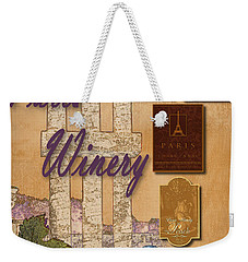 Paris Winery Labels Weekender Tote Bag
