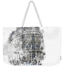 Paris With Flags Weekender Tote Bag