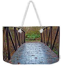 Weekender Tote Bag featuring the photograph Park Bridge by Tikvah's Hope