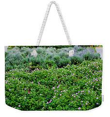 Park Floral Scene Weekender Tote Bag