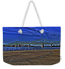Weekender Tote Bag featuring the photograph Parkersburg Point Park by Jonny D