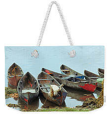 Parking Boats Weekender Tote Bag by Jola Martysz