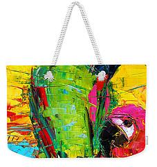 Parrot Lovers Weekender Tote Bag by Mona Edulesco