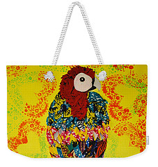 Weekender Tote Bag featuring the tapestry - textile Parrot Oshun by Apanaki Temitayo M