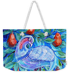 Partridge In A Pear Tree  Weekender Tote Bag by Trudi Doyle