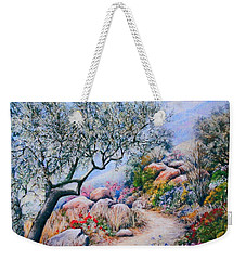 Weekender Tote Bag featuring the painting Paseo De Flores by Rosemary Colyer