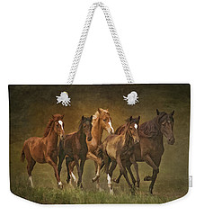Weekender Tote Bag featuring the photograph Paso Peruvians by Priscilla Burgers