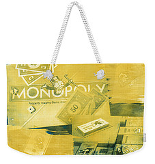 Pass Go Weekender Tote Bag by Caitlyn  Grasso