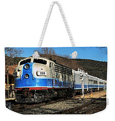 Weekender Tote Bag featuring the photograph Passenger Train by Michael Gordon