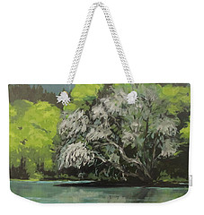 Weekender Tote Bag featuring the painting Passing by Karen Ilari