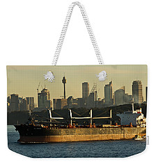 Weekender Tote Bag featuring the photograph Passing Sydney In The Sunset by Miroslava Jurcik