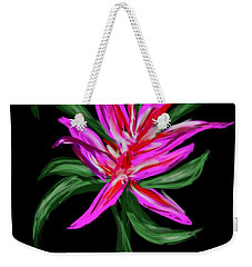Weekender Tote Bag featuring the digital art Passion Flower by Christine Fournier