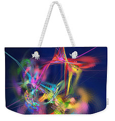 Passion Nectar - Circling The Flower Of Paradise Weekender Tote Bag by Menega Sabidussi
