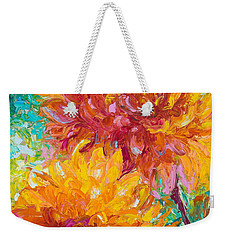 Passion Weekender Tote Bag by Talya Johnson