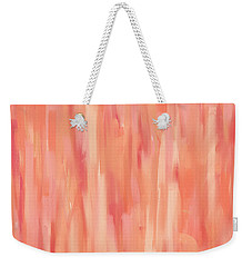 Passionate Peach Weekender Tote Bag by Lourry Legarde