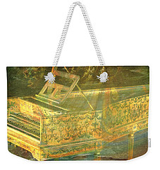 Weekender Tote Bag featuring the mixed media Past To Present by Ally  White