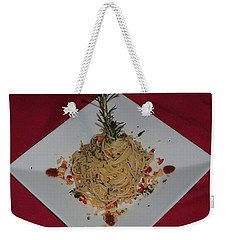 Weekender Tote Bag featuring the photograph Pasta by Robert Nickologianis