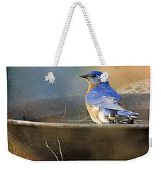 Pastel Eastern Bluebird Weekender Tote Bag
