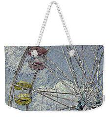 Weekender Tote Bag featuring the photograph Pastel Ferris Wheel by Nadalyn Larsen
