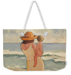 Pastel Morning Beach Pastel Morning Mother And Baby Weekender Tote Bag
