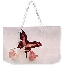 Pastel Pink Butterflies Weekender Tote Bag