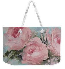 Pastel Pink Roses Painting Weekender Tote Bag