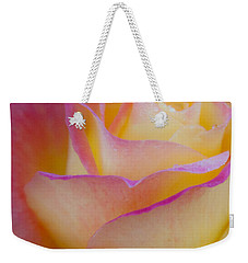Weekender Tote Bag featuring the photograph Pastels by David Millenheft