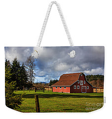 Weekender Tote Bag featuring the photograph Pasture For Rent by Jean OKeeffe Macro Abundance Art