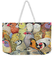 Patchwork Birds Weekender Tote Bag by Ditz