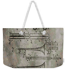 Patent Art Trombone Weekender Tote Bag by Dan Sproul