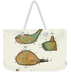 Patented Golf Club Heads 1926 Weekender Tote Bag by Marlene Watson