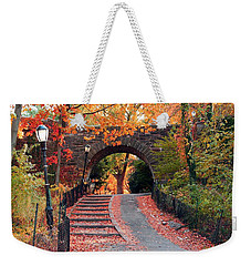 Path Of Leaves Weekender Tote Bag by Catie Canetti