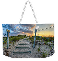 Weekender Tote Bag featuring the photograph Path Over The Dunes by Sebastian Musial