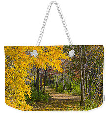 Path Through Autumn Trees Weekender Tote Bag