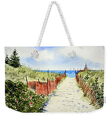 Path To East Beach-watch Hill Ri Weekender Tote Bag
