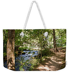 Weekender Tote Bag featuring the photograph Pathway Along The Springs by John M Bailey