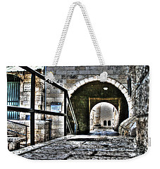Weekender Tote Bag featuring the photograph Pathway Through Old Jerusalem by Doc Braham