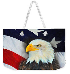 Patriotic American Flag And Eagle Weekender Tote Bag