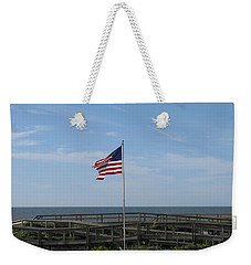 Patriotic Beach View Weekender Tote Bag