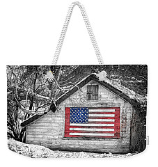 Patriotic American Shed Weekender Tote Bag
