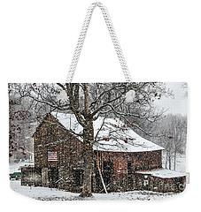 Patriotic Tobacco Barn Weekender Tote Bag by Debbie Green
