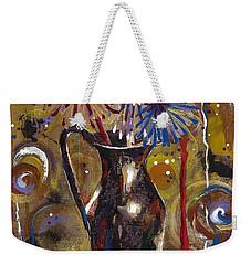 Weekender Tote Bag featuring the painting Patriotism Blooms by Margaret Bobb