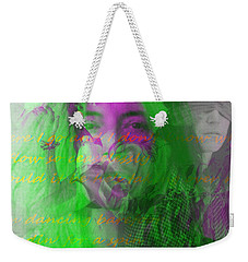 Patti Smith Dancing Barefoot Weekender Tote Bag by Elizabeth McTaggart