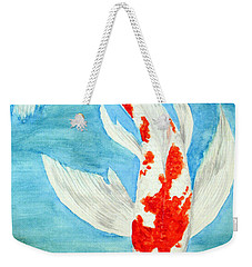 Paul's Koi Weekender Tote Bag by Marna Edwards Flavell