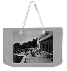 Paved Terrace At The Residence Of Mr. And Mrs Weekender Tote Bag