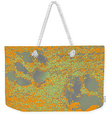 Paw Prints In Orange And Grey Weekender Tote Bag