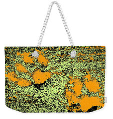 Paw Prints In Orange Lime And Black Weekender Tote Bag