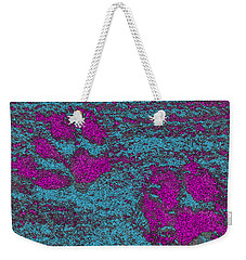 Paw Prints In Pink And Turquoise Weekender Tote Bag