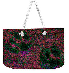 Paw Prints In Red And Green Weekender Tote Bag